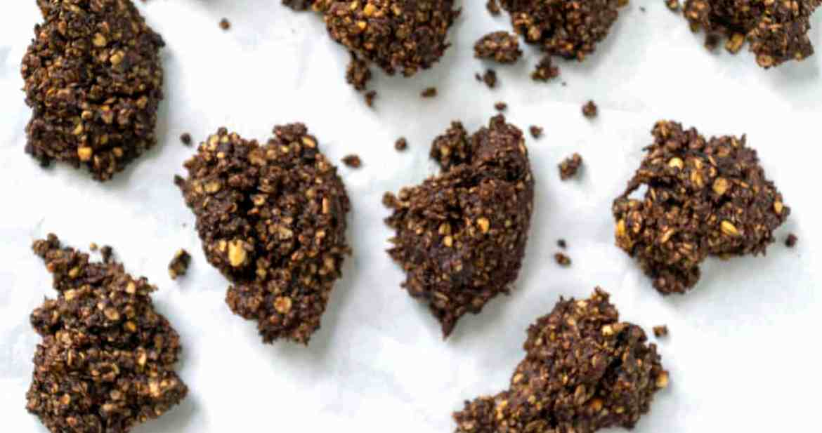 Dark Chocolate Peppermint Drop Cookies with peanut butter