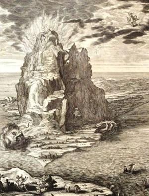 Encelade sous le Sicile ( Michel de Marolles 1655 - Archives BNF)