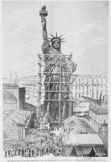 Statue de la liberté avant son départ pour New York (Archive BNF)