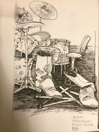 """Anders Stenmos """"Arbeitsplatz"""", gezeichnet von Marlies Breier (29.10.1977)"""