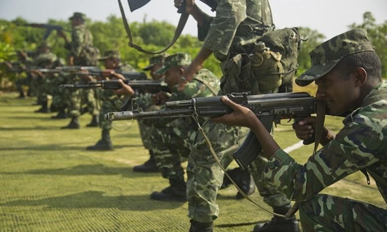 """Featured image for """"مالدیپ میں بھارتی فوج کے خلاف مظاہرہ"""""""