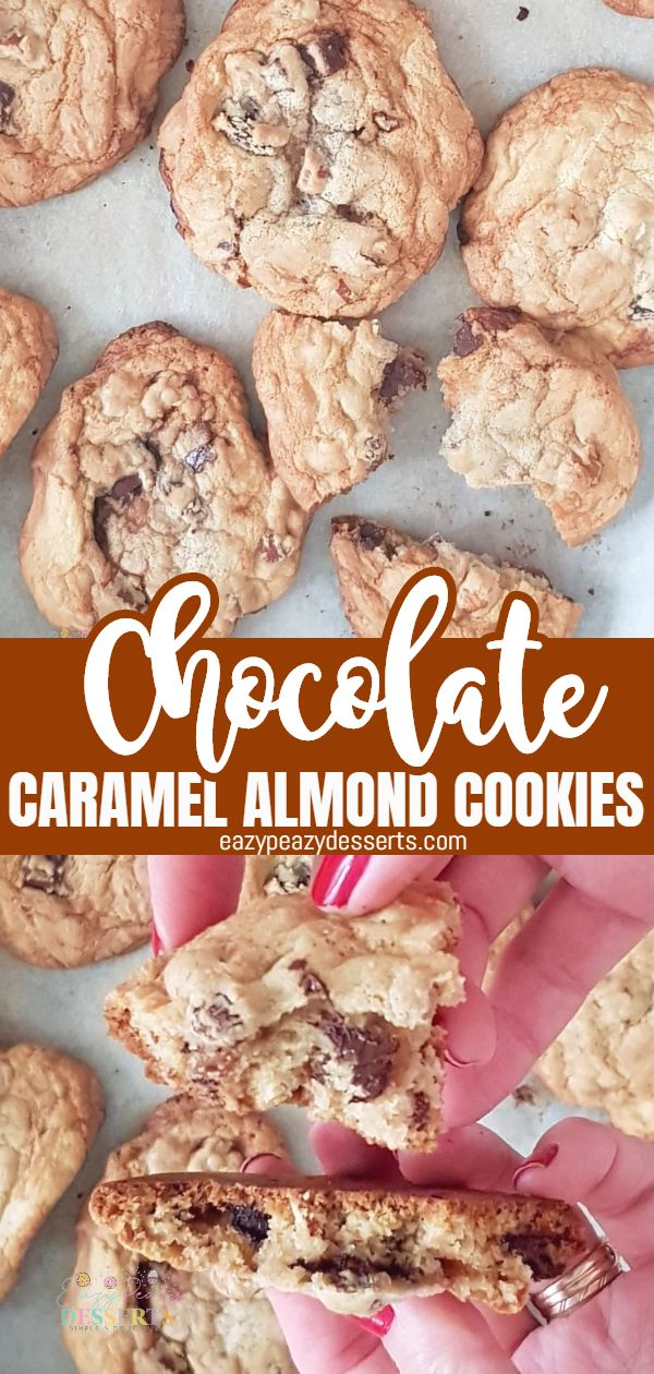 Chocolate cookies are a great hit and most of us love them. Today I'm going to show you how I make my chocolate caramel cookies with chopped almonds. I usually replace the classic chocolate chips with dark chocolate with caramel filling for a different texture and a special taste. via @eazypeazydesserts