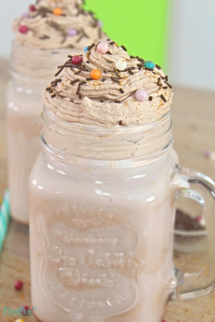 Whipped cream hot chocolate recipe