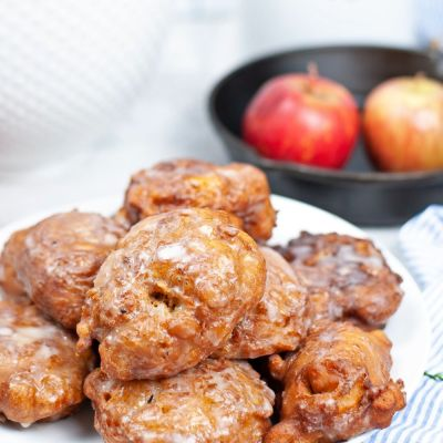 Homemade fried APPLE FRITTERS
