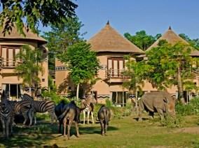 Mara river safari lodge 野生動物與住宿區