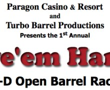 Leave 'em Hangin' 4D Open Barrel Race Results