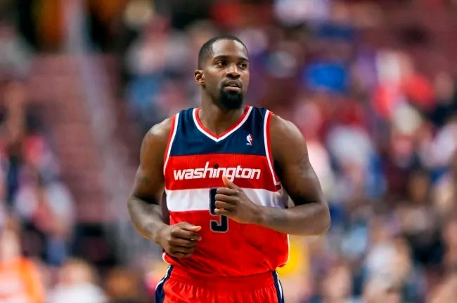 Jan 30, 2013; Philadelphia, PA, USA; Washington Wizards forward Martell Webster (9) during the fourth quarter against the Philadelphia 76ers at the Wells Fargo Center. The Sixers defeated the Wizards 92-84. Mandatory Credit: Howard Smith-USA TODAY Sports