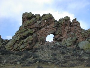 rock formation with keyhole