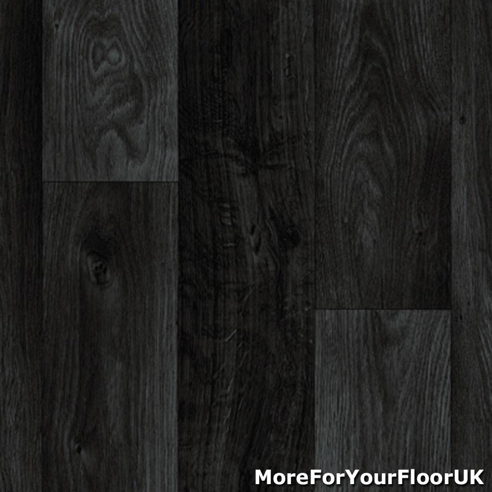 details about black dark grey wood effect plank vinyl flooring foam backed lino 2m 3m kitchen