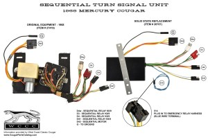 Sequential Turn Signal Box  Solid State  Repro ~ 1968