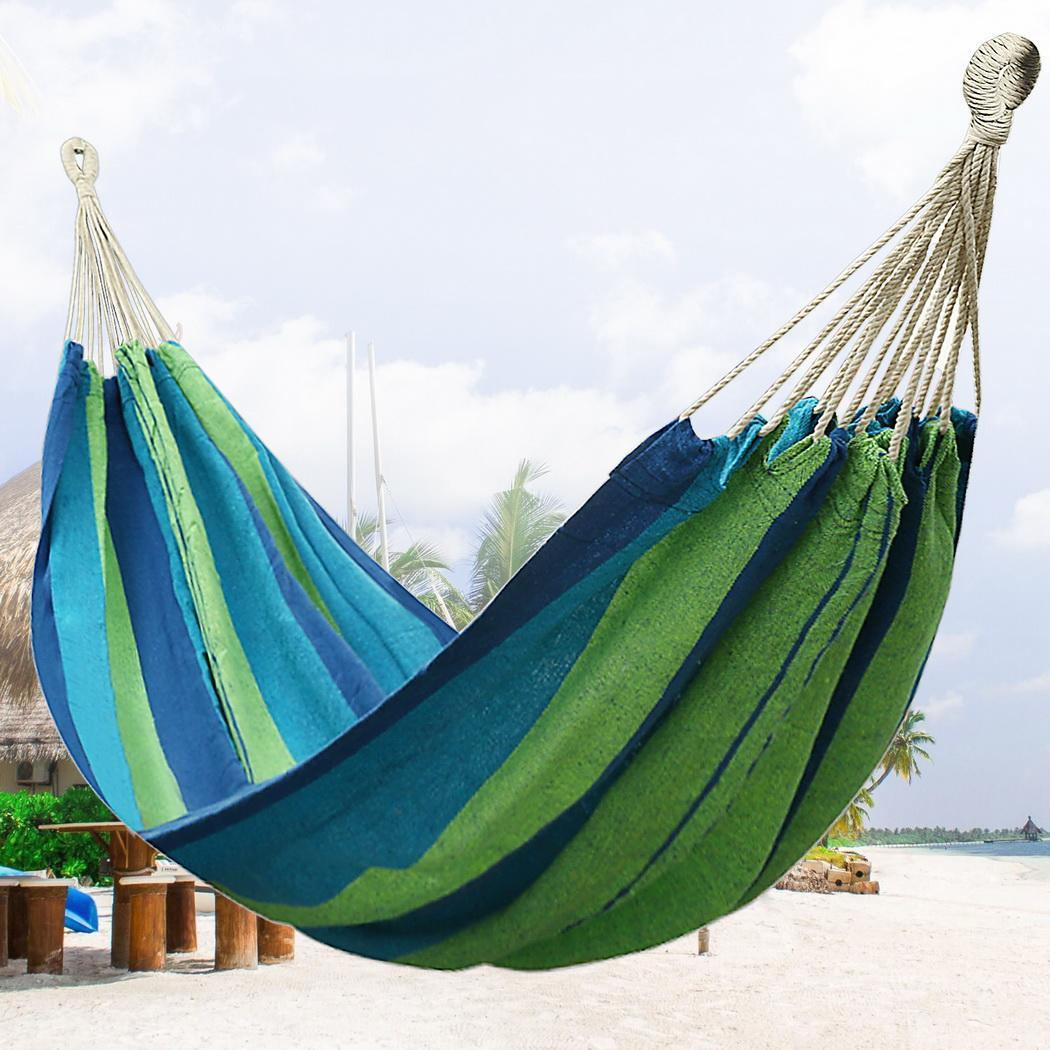 Double 2 Persons Hammock Camping Garden Yard Swing Hanging