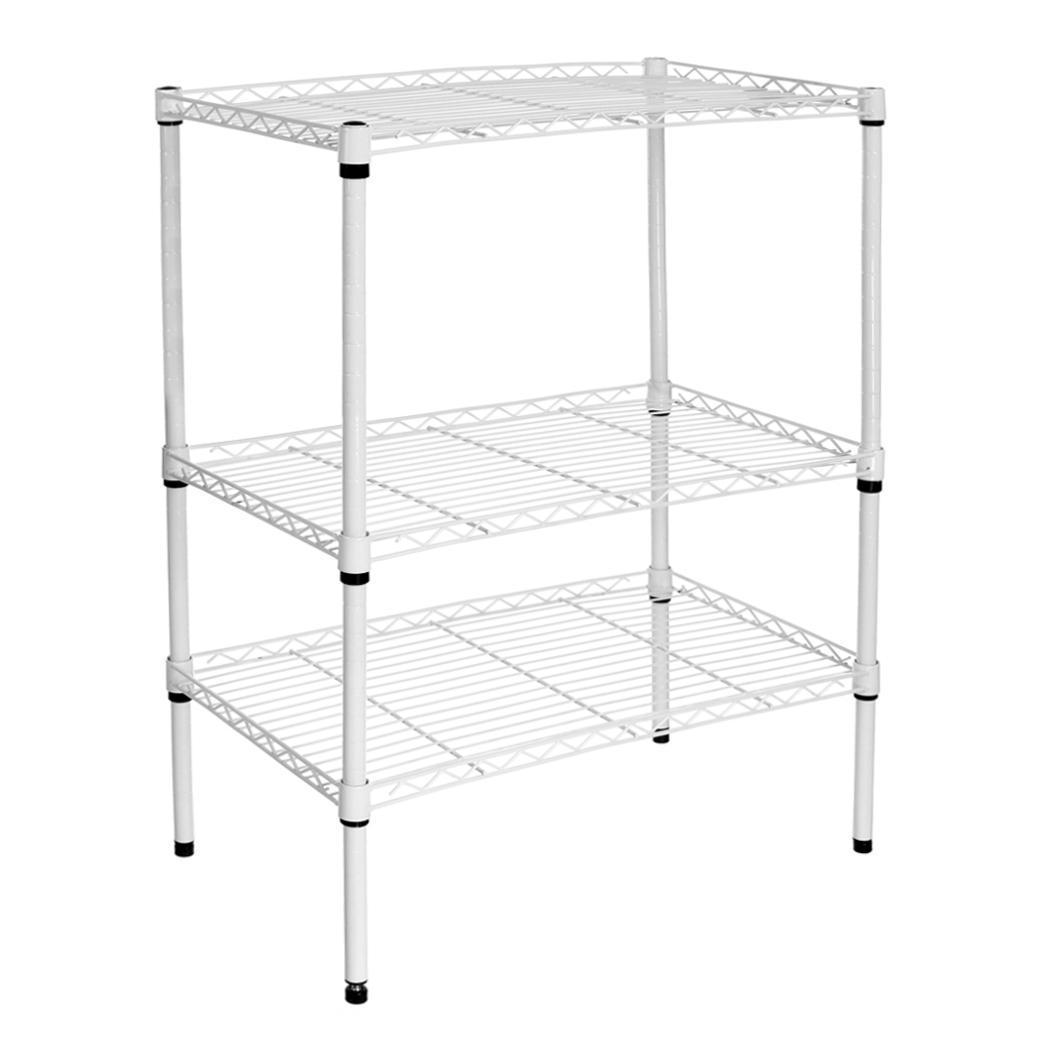 Steel Wire Metal 3 Tier Shelf Shelving Rack Kitchen Goods