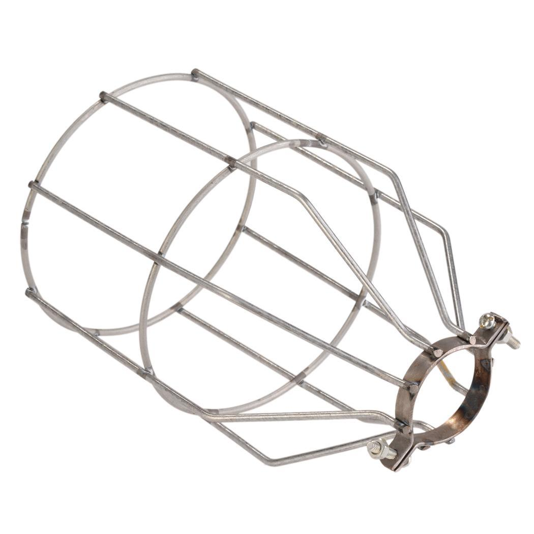 Clamp On Metal Lamp Cage Steel Lampshade For Vintage Style