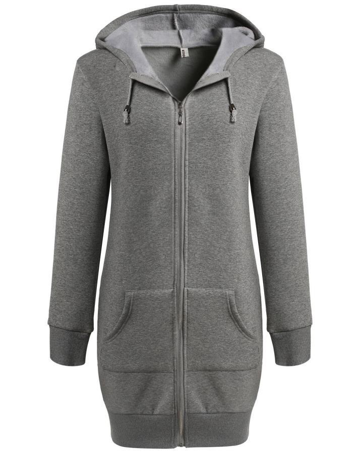 Cyber Zeagoo Women Winter Casual Long Sleeve Hooded Zipper