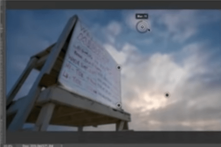 In the image shown, which Blur method is being used to control focus with a series of pins?