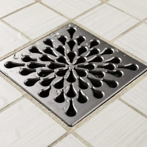 E4805-BS - Ebbe UNIQUE Drain Cover - SPLASH - Brushed Stainless Steel - Shower Drain - aw