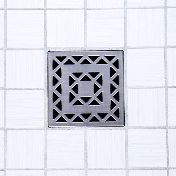 E4802-BS - Ebbe UNIQUE Drain Cover - LATTICE - Brushed Stainless Steel
