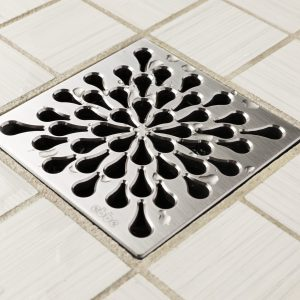 E4805-SS - Ebbe UNIQUE Drain Cover - SPLASH - Satin Stainless Steel - Shower Drain - aw