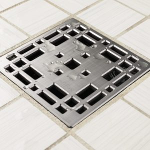 E4801-BS - Ebbe UNIQUE Drain Cover - PRAIRIE - Brushed Stainless Steel -Shower Drain - aw
