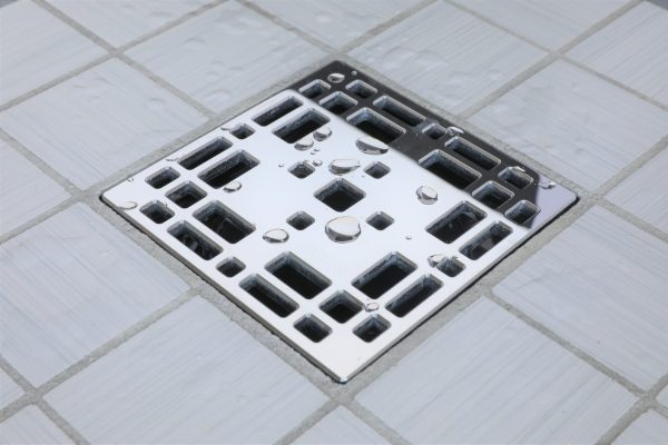 E4801-PS - Ebbe UNIQUE Drian Cover - PRAIRIE - Polished Stainless Steel - Shower Drain - aw