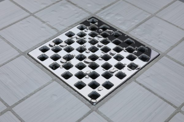 E4807-PS - Ebbe UNIQUE Drain Cover - WEAVE - Polished Stainless Steel - Shower Drain - aw