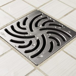 E4806-BS - Ebbe UNIQUE Drain Cover - TWISTER - Brushed Stainless Steel - Shower Drain - aw