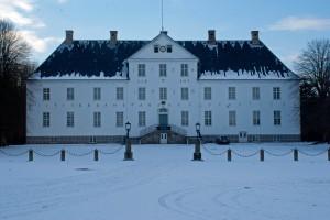 Hovebygning Brahesborg Slot set fra gårdspladsen