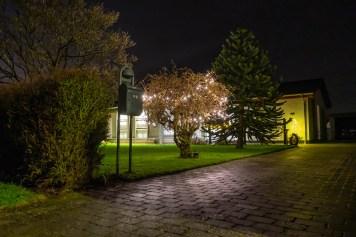 Sønderby og Ebberup på en mørk decemberaften