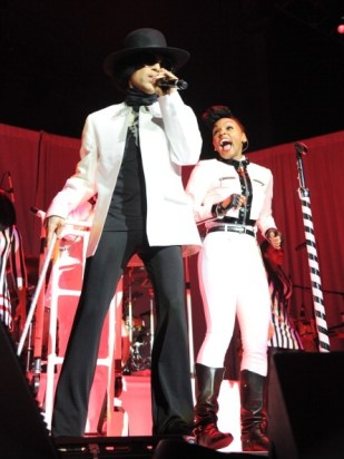 UNCASVILLE, CT - DECEMBER 29: (Exclusive Coverage) Prince performs with Janelle Monae at Mohegan Sun Arena on December 29, 2013 in Uncasville, Connecticut. (Photo by Kevin Mazur/WireImage for NPG Records 2013)
