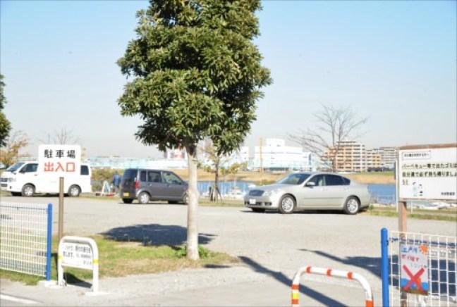 妙典スーパー堤防 駐車場