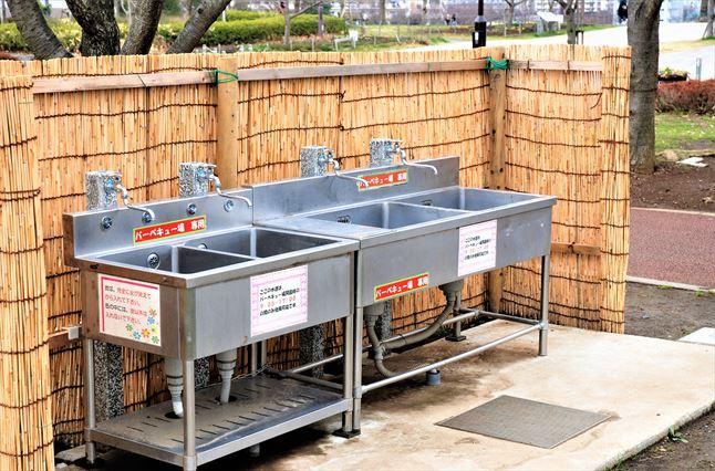 小松川千本桜 BBQ 洗い場