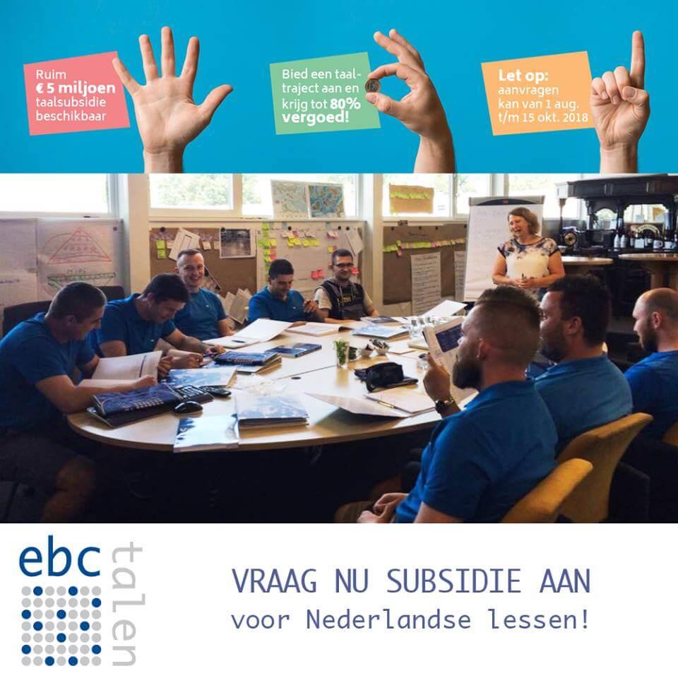67% subsidie mogelijk op een Nederlandse taaltraining