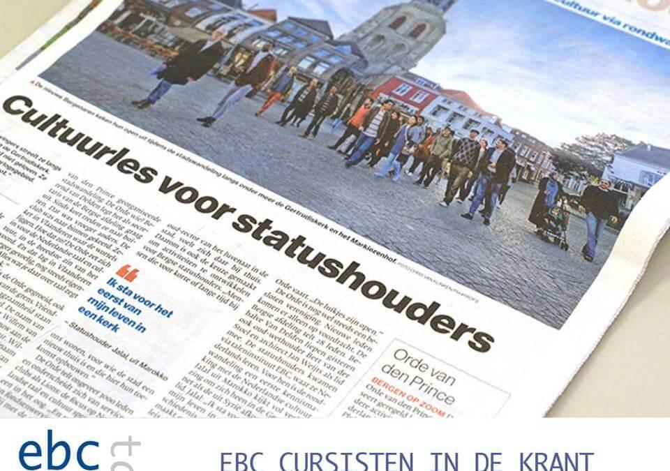 EBC inburgeraars in de krant!