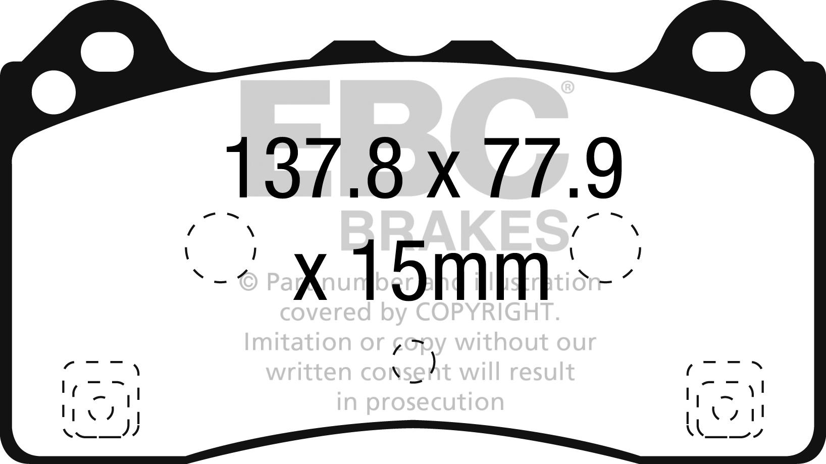 Ebc Brakes Rp 1 Racing Brake Pads