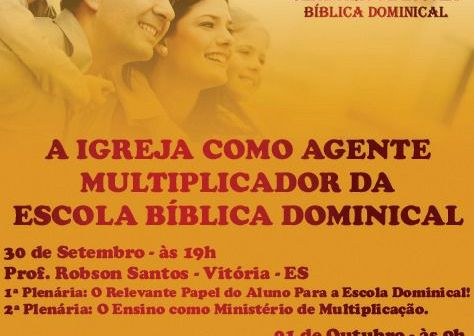 SEMINÁRIO DE ESCOLA DOMINICAL, CONFIRA!