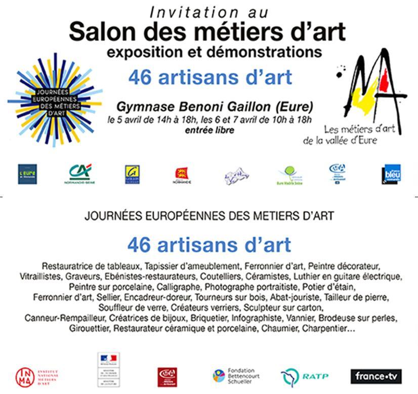 Retrouvez Emmanuel Querey au salon des métiers d'art 2019 à Gaillon