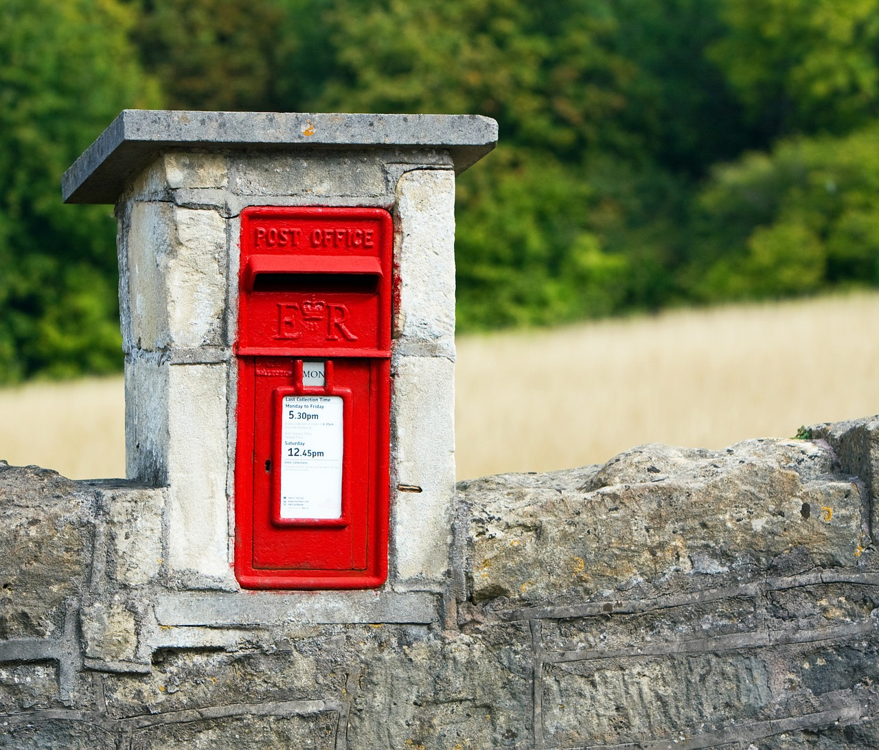 mailbox, postbox, red