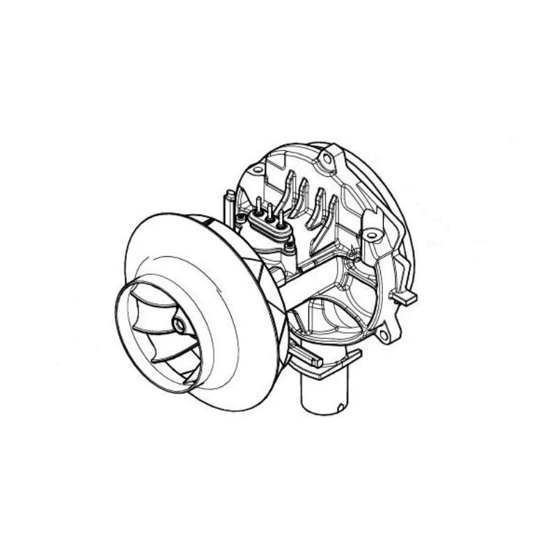 Eberspacher Airtronic S2D2L blower motor 24v