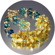 Citrine and fluorite bracelet