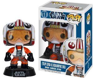 Luke Skywalker X Wing Pilot 3 75 Funko POP! Wars Vinyl Star Bobble Head Figure w Stand