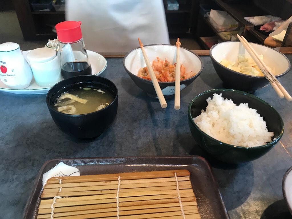 天ぷら家 てんてん_ご飯とお味噌