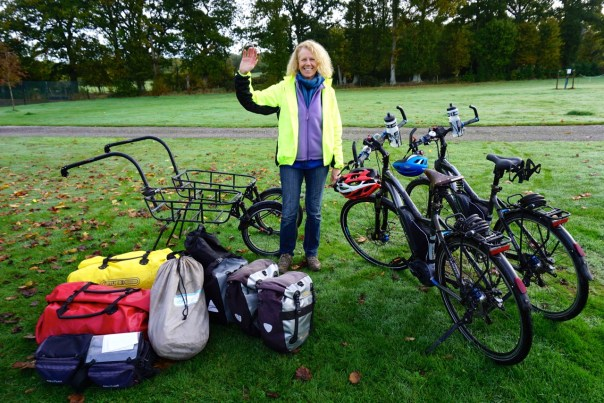 This is our life on the road, Bikes, trailers and all the luggage