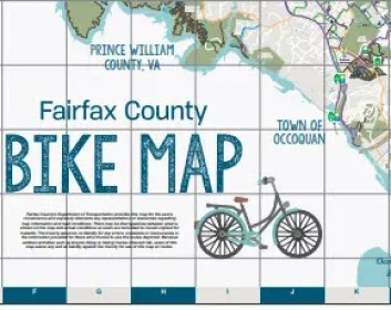 A picture of the free biking map of fairfax county