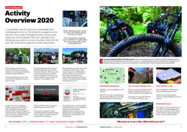 A screenshot of the pdf version of ebike lovers 2020 annual review