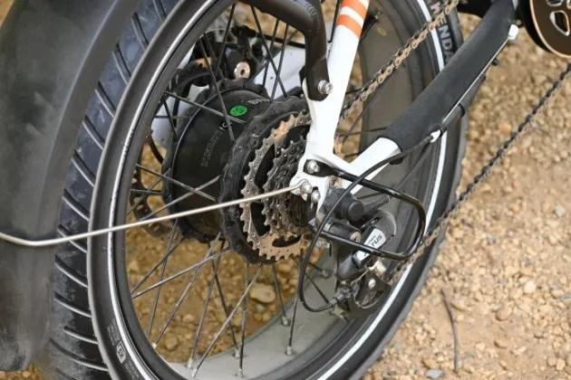 A picture of a Hub drive ebike motor - ebike lovers