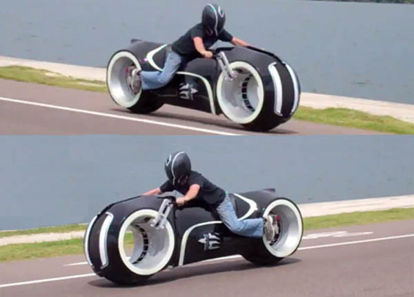 Electric tron bike