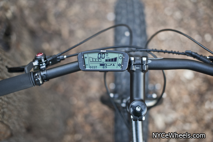 The BionX Powered Moonlander has a detailed digital display