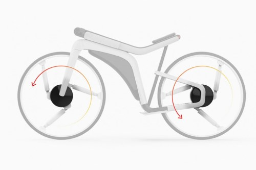 This Tesla Model B Concept e-bike features an independently turning front wheel and suspension spokes | electric bike reviews, buying advice and news - ebiketips