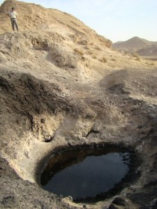Oil seep, Iraq