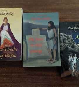 Martha Shelley trilogy: The Throne in the Heart of the Sea, The Stars in Their Courses, and A Meteor Shower